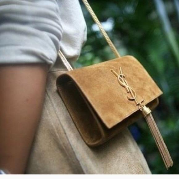 Yves Saint Laurent Bags   Saint Laurent Tassel Suede Shoulder ... eea5717d06